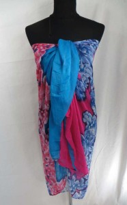 tropical flowers maxi long fashion scarves sarong wrap