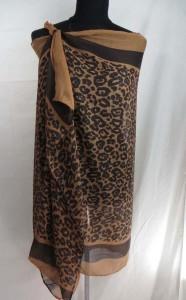 animal print leopard cheetah maxi long fashion scarves sarong wrap