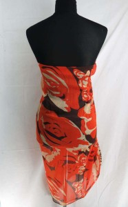 roses abstract print maxi long fashion scarves sarong wrap