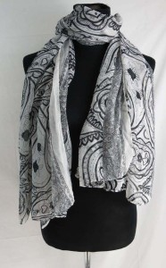 boho vintage clocks and paisley maxi long fashion scarves sarong wrap