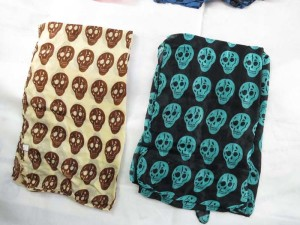 skull maxi long fashion scarves sarong wrap