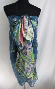 boho vintage paisley design maxi long fashion scarves sarong wrap