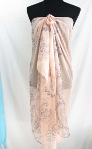silky chiffon boho retro print maxi long fashion scarves sarong wrap.