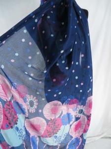 tropical floral fashion scarves