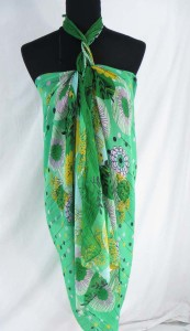 tropical floral fashion scarves