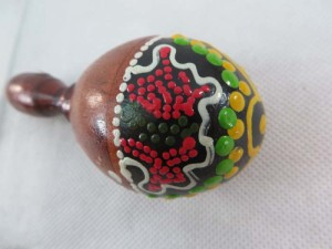 mini maracas with thousand dots handpainting