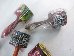 maracas with thousand dots handpainting
