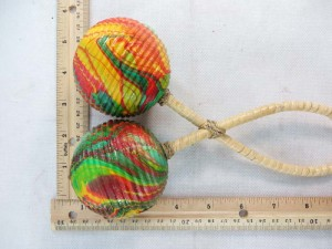 tribal percussion music instrument double twisted ball shaker