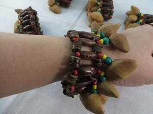 handmade Chajchas rasta Jamaican reggae style nuts shaker