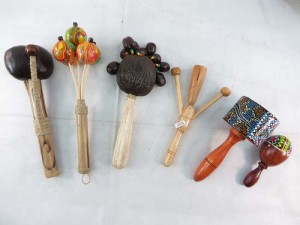 set of 6 pieces handcrafted percussion instument