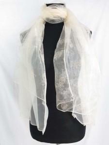 double layers skull cross bones lightweight sheer scarf wrap