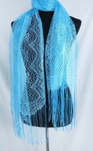 plain color long tassel lightweight sheer scarf wrap