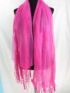 long fringed reindeer scarf wrap