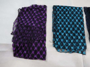 butterfly lightweight sheer lace scarf wrap