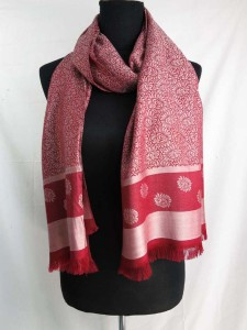 double sided retro boho print long scarf shawl, reversible fall and winter wrap stole