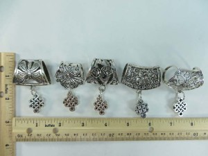 celtic scarf pendant bail slide set