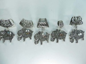 elephant scarf pendant bail slide set