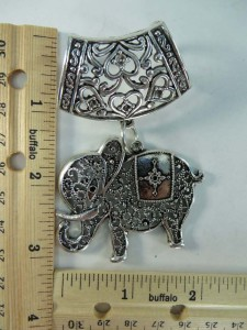 elephant scarf pendant bail slide set