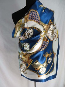 vintage style chariot satin square scarves shawl wrap stole.