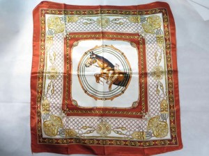 boho vintage equestrian themed horse satin square scarves shawl wrap stole