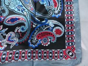 paisley vintage retro boho inspired satin square scarves shawl wrap stole