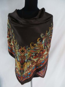boho vintage retro satin square scarves shawl wrap stole. Fashion scarf for all seasons