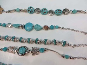 antique vintage style turquoise gemstone toggle bracelet