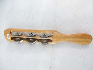 wooden tambourine stick metal shaker
