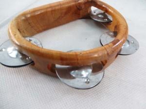 wooden tambourine metal shaker