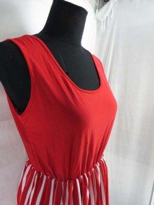 plain and strip design fashion top