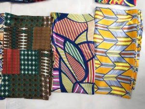 Geomatric vintage style boho retro print two sided long narrow fashion scarf.
