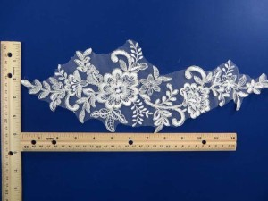 mirror pair venise bridal sew on lace trim appliques