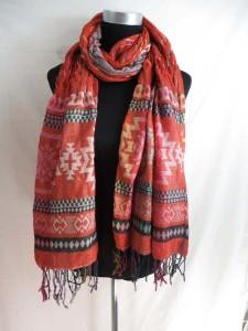 Double layer fashion shawls wraps with Southwestern prints