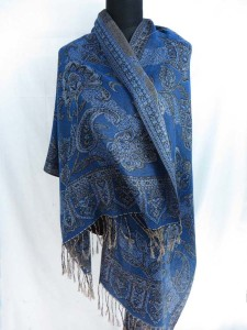 paisley jacquard double sided viscose shawl scarf stole with cashmere wool feel