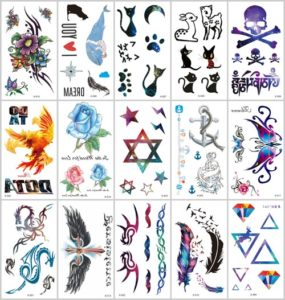 feather angel wing dragon temporary tattoo Great collection of skin decor fake tattoos.Our warehouse staffs will randomly choose assorted designs shown on the pictures.