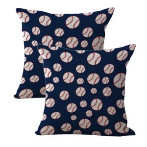 set of 2 American patriotic baseball sports cushion cover