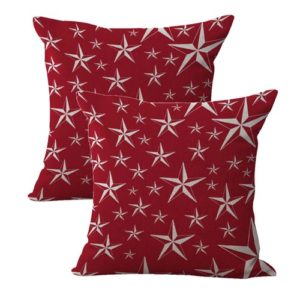 set of 2 American patriotic stars cushion cover