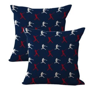 set of 2 baseball player American patriotic cushion cover