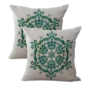 set of 2 boho mandala yoga meditation cushion cover