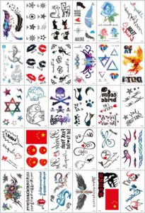 mini micro small temporary tattoo Great collection of skin decor fake tattoos. Our warehouse staffs will randomly choose assorted designs shown on the pictures.
