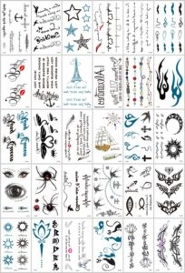 mini micro small temporary tattoo Great collection of skin decor fake tattoos.Our warehouse staffs will randomly choose assorted designs shown on the pictures.