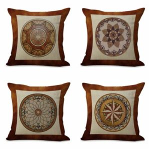 set of 4 cushion covers mandala unity harmony Cushion covers/pillow cases in assorted designs randomly picked by us. Pillow case only, insert pillow is not included.