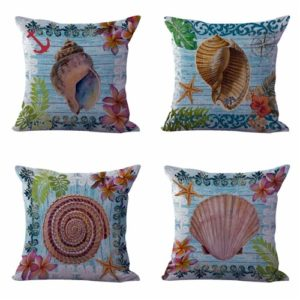 Set of 4 cushion covers crab octopus lobster Cushion covers/pillow cases in assorted designs randomly picked by us. Pillow case only, insert pillow is not included.