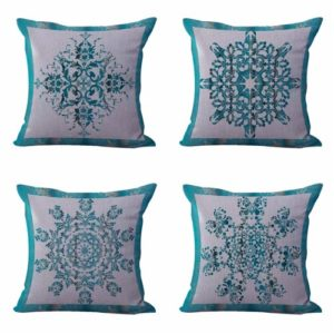 Set of 4 cushion covers boho mandala Cushion covers/pillow cases in assorted designs randomly picked by us. Pillow case only, insert pillow is not included.