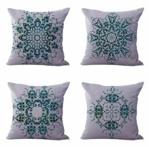 Set of 4 cushion covers bohemian mandala Cushion covers/pillow cases in assorted designs randomly picked by us. Pillow case only, insert pillow is not included.