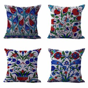 Set of 4 cushion covers boho flora Cushion covers/pillow cases in assorted designs randomly picked by us. Pillow case only, insert pillow is not included.