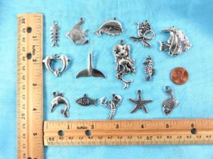 wholesale fish mermaid seahorse pendants charms Jewelry findings for DIY scarves with jewelry, DIY necklace and more Mixed designs randomly picked by our warehouse staffs.