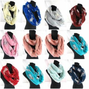 10pcs cats unicorn infinity scarf Soft, trendy and lightweight eternity circle neck wrap. Perfect fashion accessory for all seasons. Great gifts for friends and family.