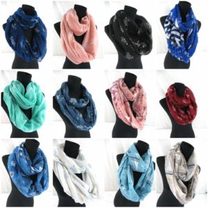 10pcs boat sailing turtle marine infinity scarf Soft, trendy and lightweight eternity circle neck wrap.Perfect fashion accessory for all seasons. Great gifts for friends and family.
