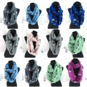 10pcs panda animal infinity scarf Soft, trendy and lightweight eternity circle neck wrap. Perfect fashion accessory for all seasons. Great gifts for friends and family.